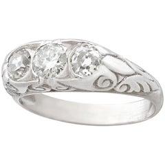 Antique French Diamond and Platinum Trilogy Ring - Circa 1910