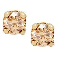 Champagne Diamond Stud Earrings 'Pair' by Allison Bryan