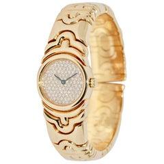Bulgari Parentesi Tubogas Diamonds Ladies 18 Karat Bracelet Bangle Wristwatch