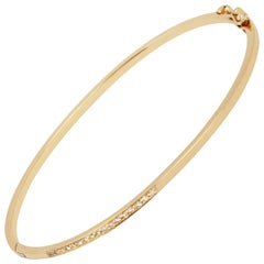 White Diamond Bracelet in 18 Karat Gold by Allison Bryan