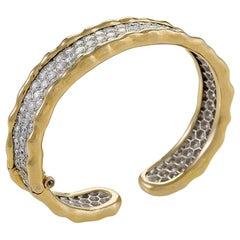 Gold Bangle Bracelet with Diamonds by Van Cleef & Arpels