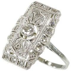 Edwardian Art Deco Diamond Engagement Ring