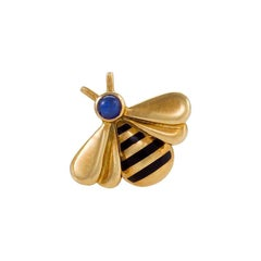 Cartier Enamel and Sapphire Bee Brooch