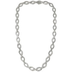 Cartier 18 Karat White Gold Round Cut Diamond Diadea Statement Necklace