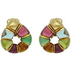 Bulgari Multicolored Stones Earrings