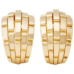 Cartier 18 Karat Yellow Gold Maillon Panthère Earrings