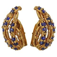 Tiffany & Co. Sapphire Gold Earrings