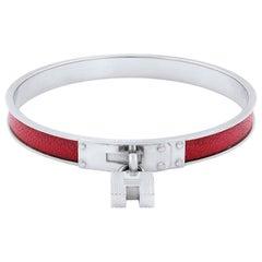 Hermes Kelly H Lock Cadena Charm Bracelet
