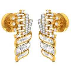 3 Carat Diamond Chandelier Earrings 18 Karat Yellow Gold