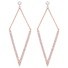 0.30 Carat Diamond Chandelier Earrings 18 Karat Rose Gold