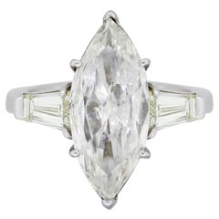 4.61 Carat Marquise Shape Diamond Engagement Ring