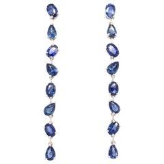 Ruchi New York Multi Shape Blue Sapphire Drop Earrings
