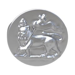 Sterling St George Lion Signet Ring