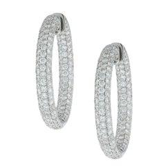 Inside-Out Diamond Gold Hoop Earrings