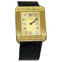 """Poiray"" of France 18 Karat Yellow Gold Watch"