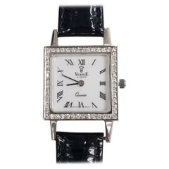 "14 Karat White Gold ""Vicence"" Le Temps De Ladies Diamond Watch"
