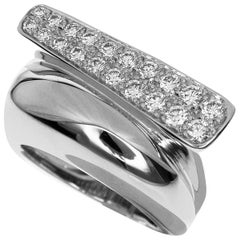 Fred Diamond 18 Karat White Gold Success Ring Medium Model