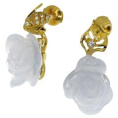 Christian Dior Diamond 18 Karat Yellow Gold LaRoseDiorPréCatelan Studs Earring