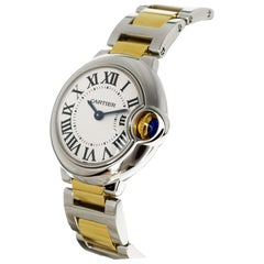 Cartier 18 Karat Yellow Gold Stainless Steel Ballon Bleu SM