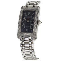Cartier Tank American Diamond 18 Karat White Gold Quartz Ladies Watch SM