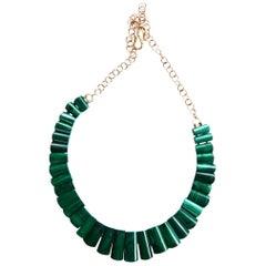 Malachite 18 k Gold Necklace