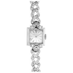 Gubelin Ladies Vintage White Gold and Diamond Dress Watch