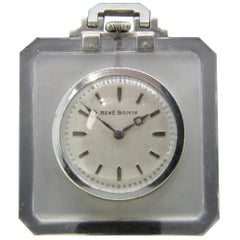 Rene Boivin 1940 Rock Crystal Pocket Watch