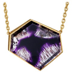 Devta Doolan Amethyst Shadow One of a Kind Drop Necklace