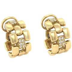 Cartier Post Ear Clip Earring Set with 0.30 Carat of Diamond