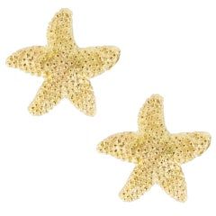 Jona 18 Karat Yellow Gold Starfish Stud Earrings