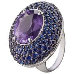 "Monica Rich Kosann One of a Kind ""Secret"" Purple Spinel Cocktail Ring"