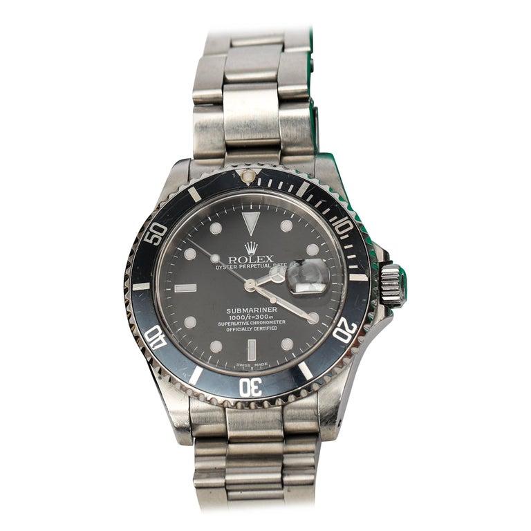 Brandon Webb Rolex Submariner Diver's Wristwatch For Sale