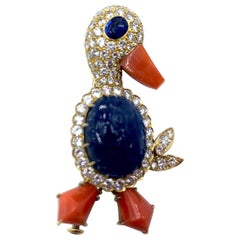 Perdezani Novelty Duck Brooch