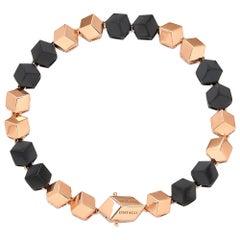 Paolo Costagli 18 Karat Gold Sterling Silver Gunmetal Finish Brillante Bracelet