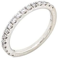 14 Karat White Gold .20 Carat Diamond Stackable Anniversary Wedding Band Ring