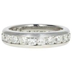 Tiffany & Co Lucida Platinum Diamond Eternity Band Ring 3 Carat
