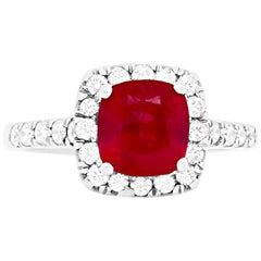 2.63 Carat Ruby and Diamond Ring