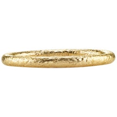 Hammered 22 Karat Gold Band