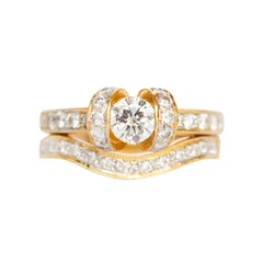 .40 Carat Diamond Yellow Gold Engagement Ring