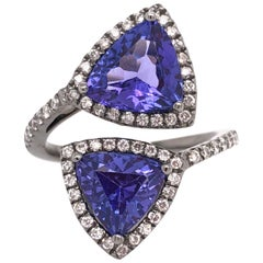 Ruchi New York Trillion Tanzanite and Diamond Cocktail Ring