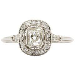 Exquisite Platinum Diamonds Ring