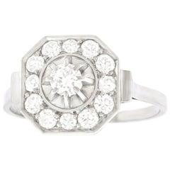 French Art Deco Diamond Set Ring