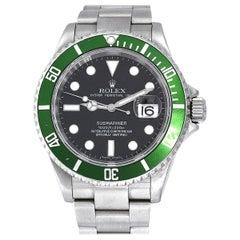 Rolex 16610 Submariner Kermit Black Dial Green Bezel Watch