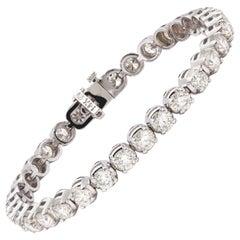 Gorgeous 10.50 Carat Diamond Tennis Bracelet