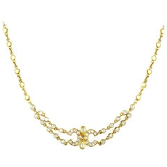 Cartier Vintage Diamond Yellow Gold Choker Necklace
