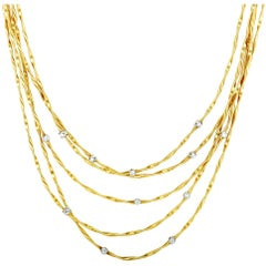 MarCo Bicego Marrakech Diamond Yellow and White Gold Strand Necklace