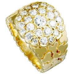Van Cleef & Arpels Vintage Diamond Yellow Gold Band Ring