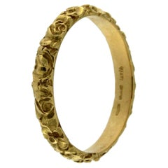 Chiseled Yellow Gold Ring 18 Karat