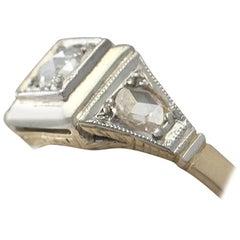 Antique Diamond Gold Cocktail Ring