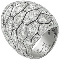 Cartier Diamond Snake Skin Ring